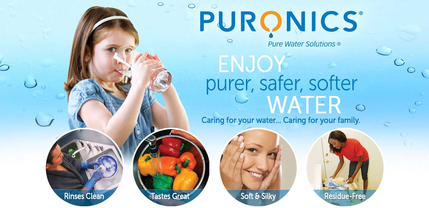 Enjoy purer, safer, softer water with a Puronics water softener